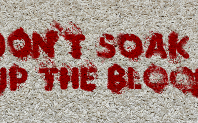 Don't soak up the blood (Root cause analysis is an important skill set)